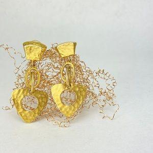 Long abstract stud dangle earrings